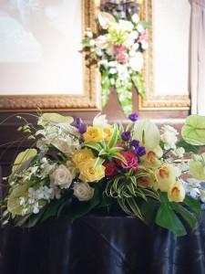 ブライダル会場装花