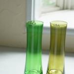 ハンドメイド ガラス 花瓶