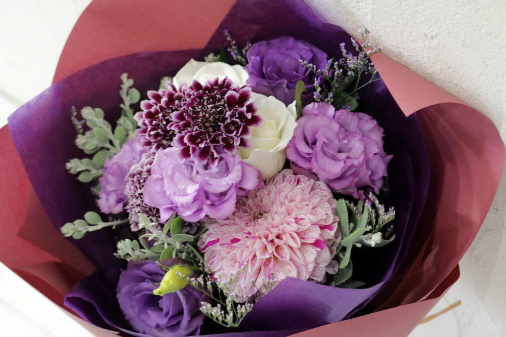 花束 ブーケスタイル (バイオレット)