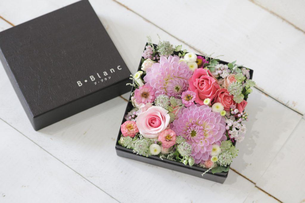 BOXアレンジメント(メルヘンピンク)