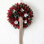 クリスマス 天然素材の3色リース