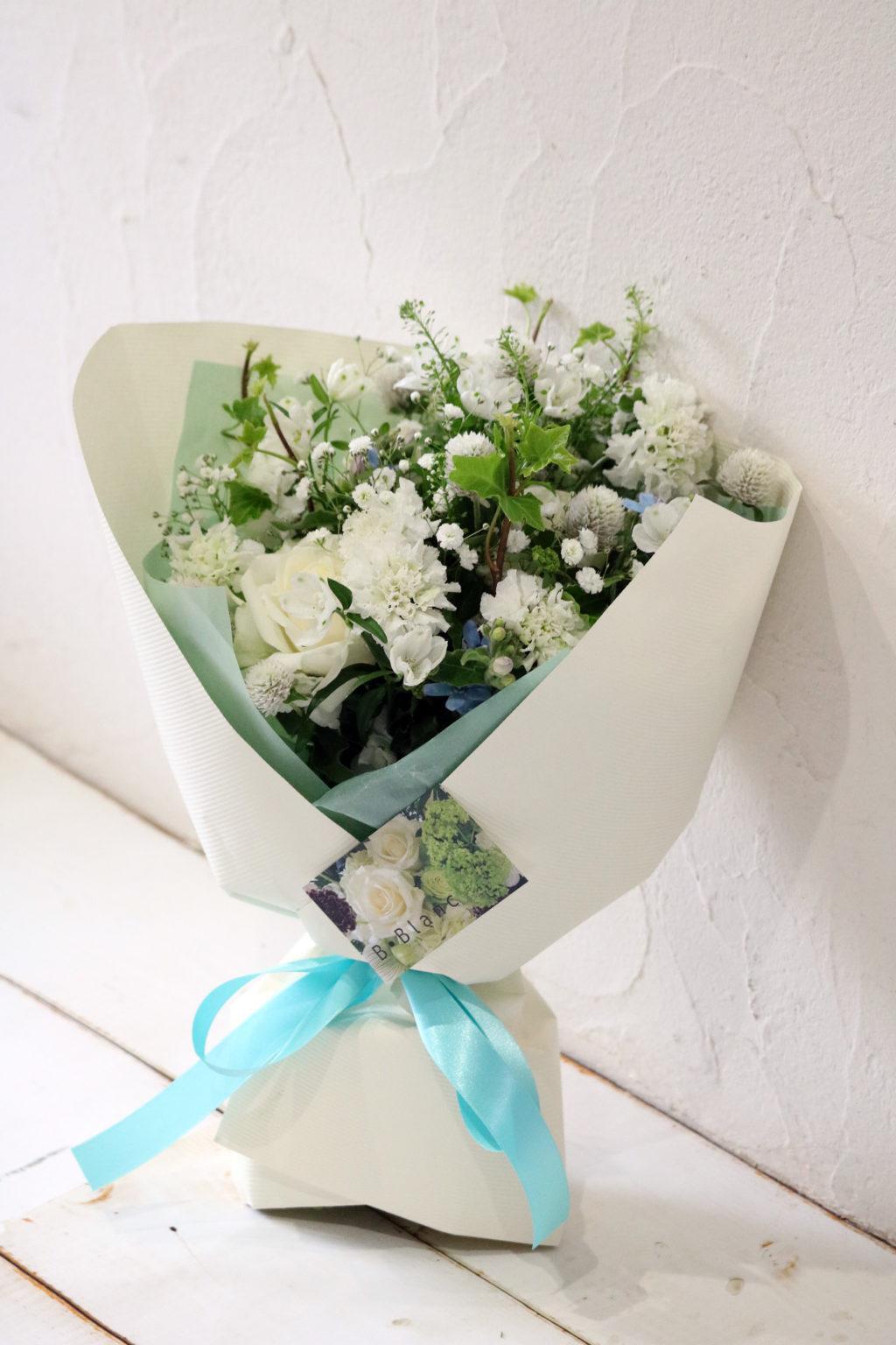 ホワイトデー 花束 ブーケスタイル (ホワイト)