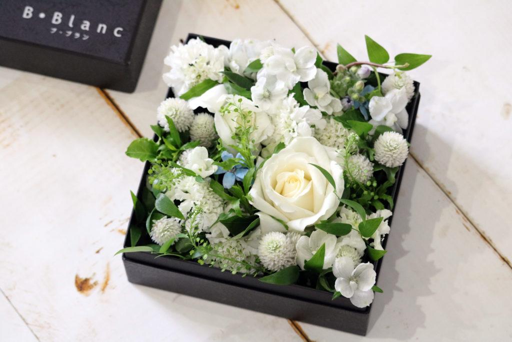 ホワイトデー BOXアレンジメント(ホワイト)