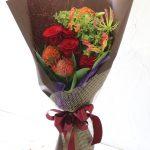 花束 贈呈用に ロングスタイル(レッド&オレンジカラー)