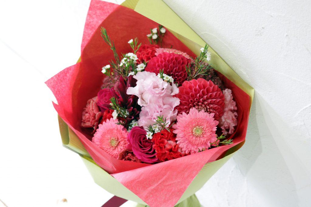 花束 ブーケスタイル (レッド&ピンク)