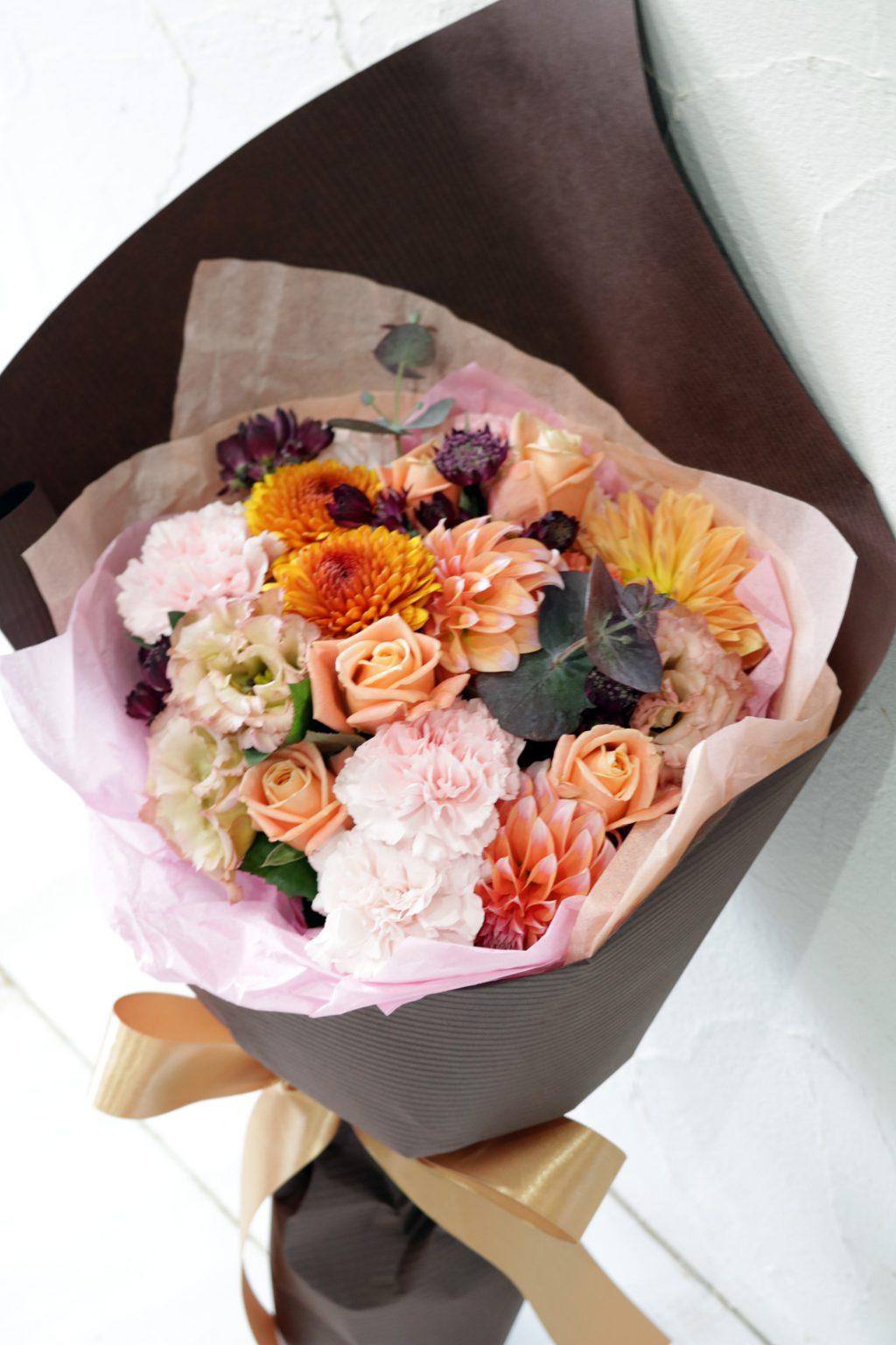 花束 ブーケスタイル(アンティークオレンジ)