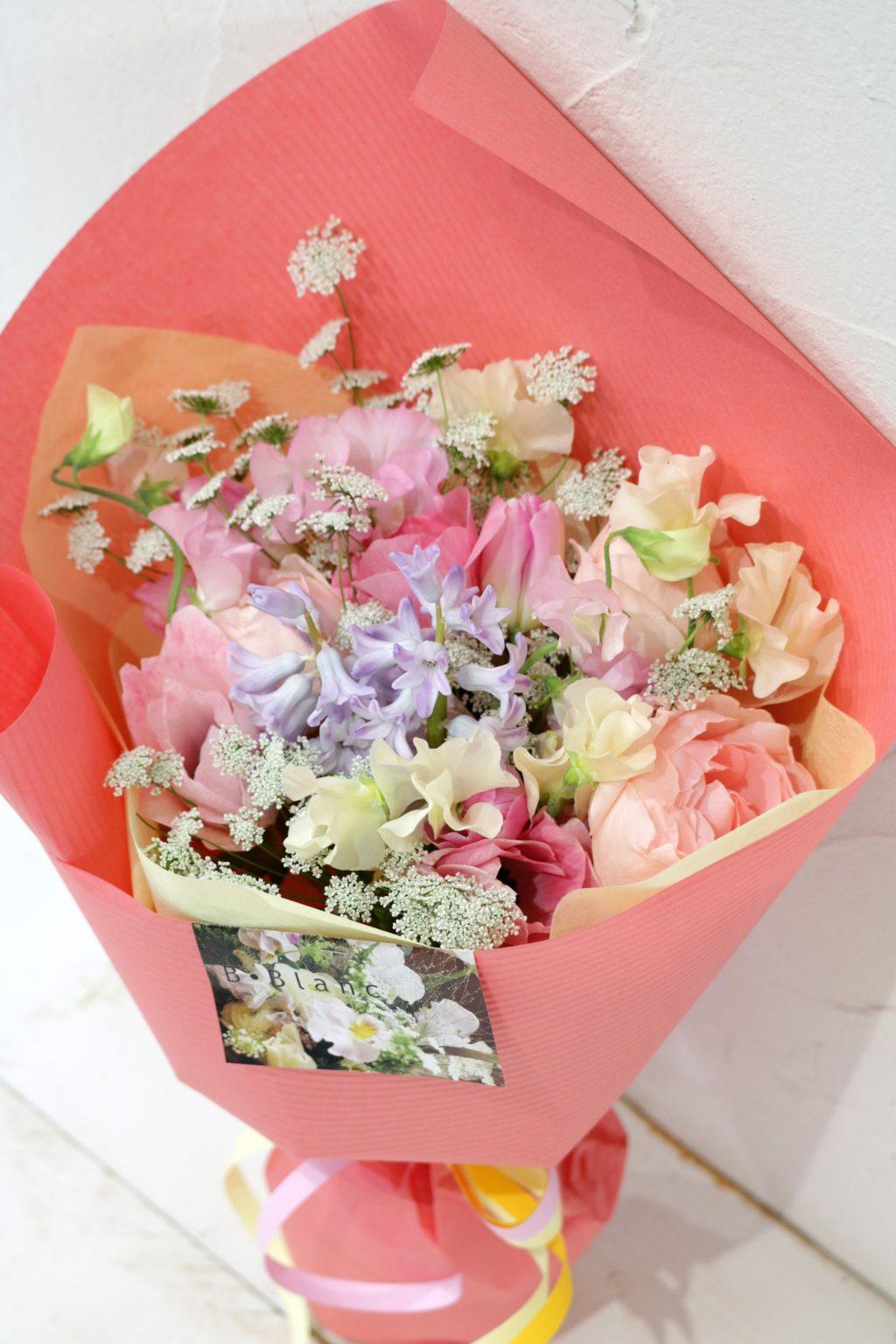 花束 ブーケスタイル (パステルピンク)